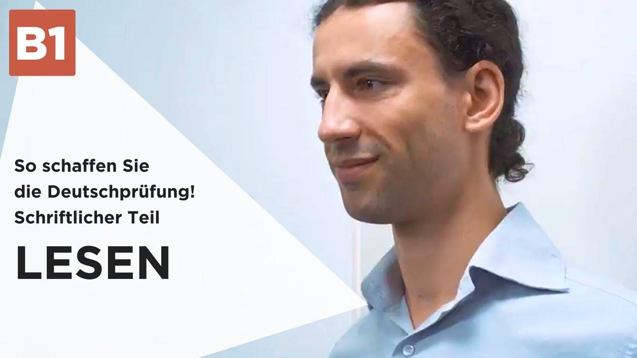 Deutschprüfung - Schriftlicher Teil: LESEN