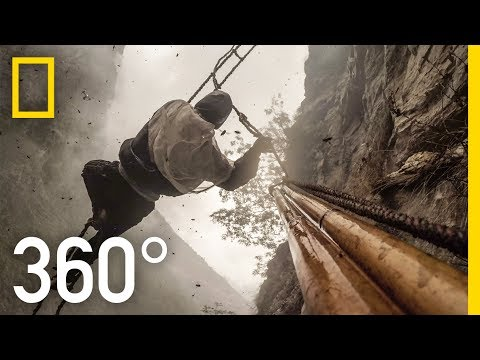 360° Dangerous Honey Hunting (4K) | Explorer | National Geographic