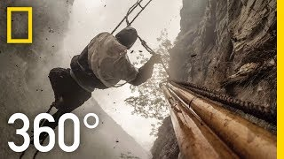 360° Dangerous Honey Hunting (4K) | Explorer | National Geographic