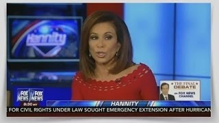Judge Jeanine Pirro 10/14/16 With Sean Hannity (WikiLeaks uncovered bombshell Clinton revelations )