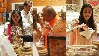 Isha Ambani Engagement - Isha Ambani, Mukesh Ambani And Shloka Ambani Eating Pani Puri