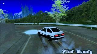 Gta sa AE86 Trueno SinMyogi Downhill Drifting