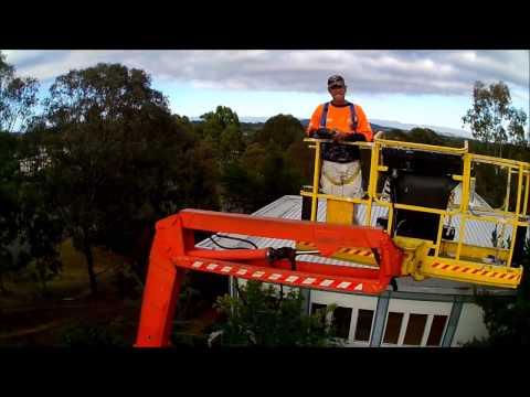 Hubsan 700m Flight From A EWP Cherrypicker In Canberra Australia