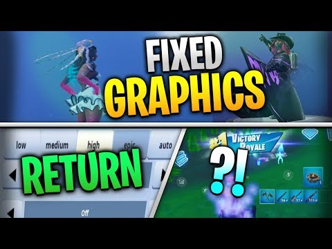 Fortnite Mobile News | Fixed Graphics, 60FPS Return, Victory Royale Effect, AND MORE!