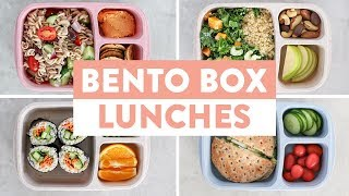 5 EASY Bento Boxes for Back to School | Healthy Lunch Ideas