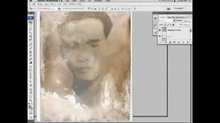 speed photoshop painting phuc hoi anh cu