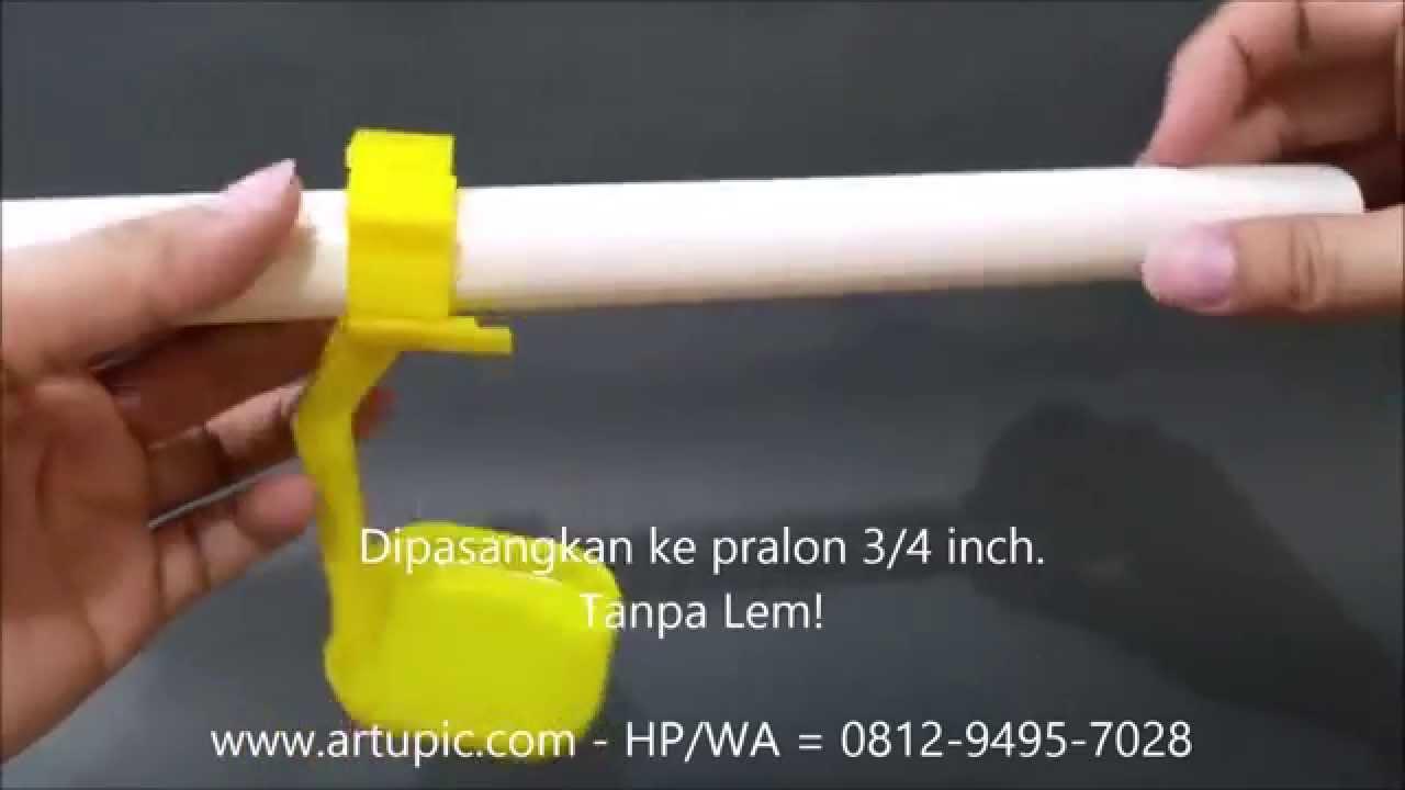 Cara Memasang Dripcup Nipple Ayam Artupic Youtube Nipel Dot Minum Kelinci