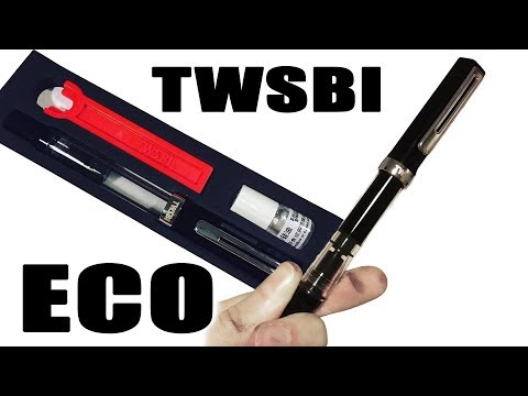 Unboxing and filling up the TWSBI ECO fountain pen