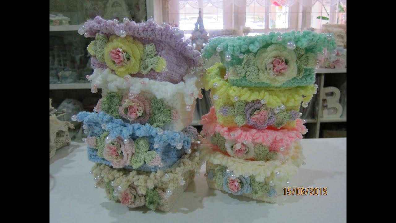 Crochet 4x4 Mini Basket Tutorial 2015 Youtube