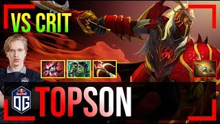 Topson - Dragon Knight MID | vs Crit (Clinkz) | Dota 2 Pro MMR Gameplay #2