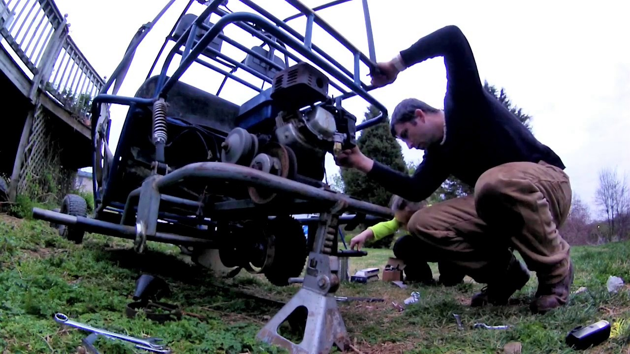 Go Kart Build ( Go kart from the grave gets new axle & carb )