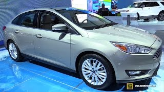 2015 Ford Focus Titanium Sedan - Exterior and Interior Walkaround - 2015 Detroit Auto Show(Welcome to AutoMotoTube!!! On our channel we upload every day short, (2-5min) walkaround videos of Cars and Motorcycles. Our coverage is from Auto and ..., 2015-01-26T14:59:02.000Z)