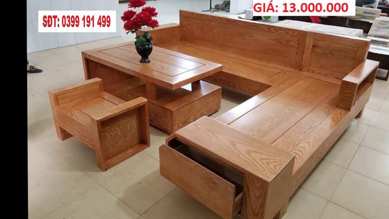 Bàn ghế phòng khách đẹp hiện đại giá rẻ | Mẫu bàn ghế sofa gỗ phòng khách