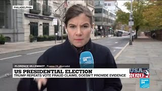 FRANCE 24's Florence VIlléminot reports on the 'final stretch' in Pennsylvania