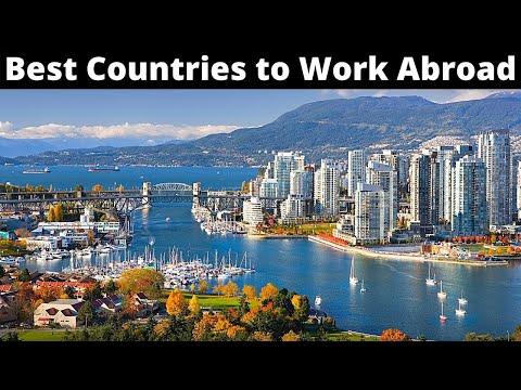 """10 המדינות המומלצות ביותר לעבודה בחו""""ל"""