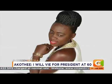 News Trends: Akothee reveals plans of vying for President of Kenya