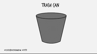 DRAWATHON: Draw a Trash can in PowerPoint