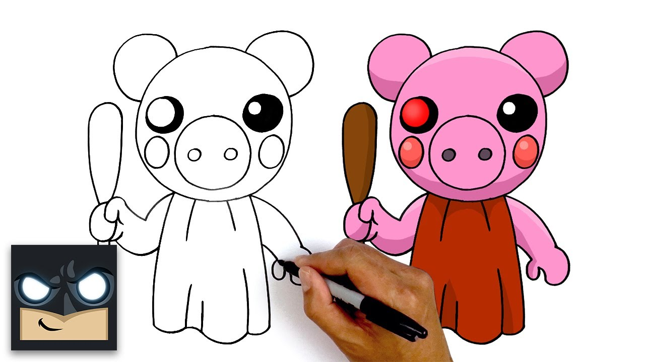 Piggy Roblox Drawings Cute How To Draw Roblox Piggy Step By Step Youtube