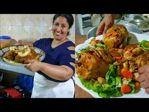 دجاج معمر في الفرن بطريقة جديدة مع الطباخة فاطنة ! للأفراح و المناسبات