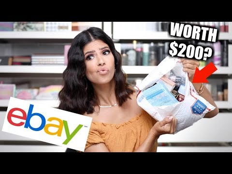 I BOUGHT A $100 EBAY MYSTERY MAKEUP BOX... was it worth it? thumbnail