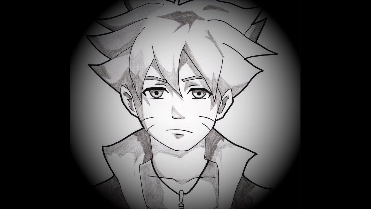 dessin de BORUTO UZUMAKI (BOLT) dans NARUTO - YouTube