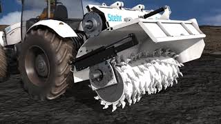 Stehr SBF 24-2 - Bodenstabilisierungs- und Brecherfräse als Anbaufräse für Traktoren