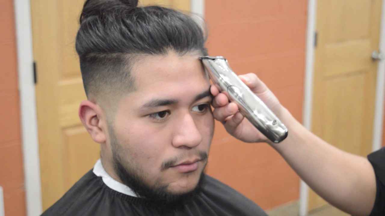 Man Bun Undercut Fade 2017 Mens Hairstyle Youtube