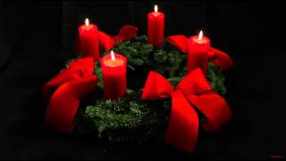 4th Advent Wreath - German Adventskranz - With Four Candles Lit For The Fourth Sunday Of Advent