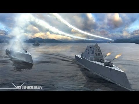 This is what would happen if the USS Zumwalt fought a Russian battlecruiser