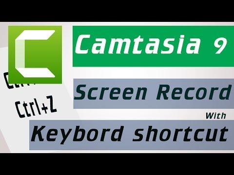how to add keyboard shortcut or keystroke when screen record |camtasia 9 auto Keyboard shortcut