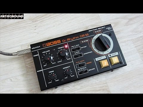 boss dr 55 dr rhythm analog drum machine 1979 youtube. Black Bedroom Furniture Sets. Home Design Ideas