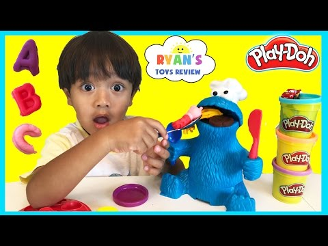 Thumbnail: PLAY DOH COOKIE MONSTER LETTER LUNCH Cookie Monster EATS PEPPA PIG Disney Cars Learn ABC Alphabet