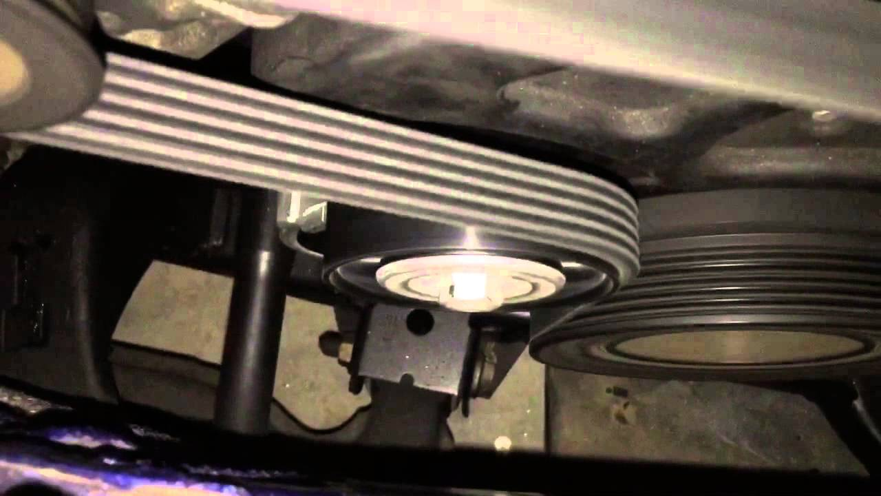 medium resolution of astra 1 8 aux belt tensioner noise before and after replacement youtube