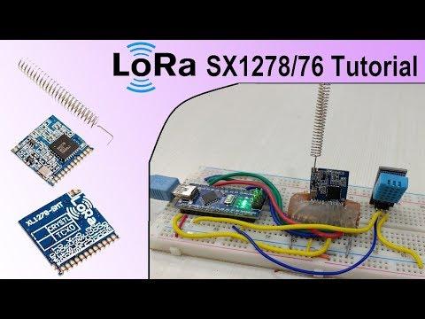 LoRa SX1278/76 Arduino Interfacing Tutorial   Sending Sensor Data Wirelessly With LoRa