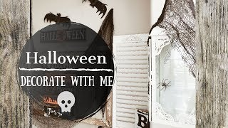 HALLOWEEN 2019 | DOLLAR TREE HALLOWEEN DECORATIONS | DECORATE WITH ME | ENTRYWAY IDEAS