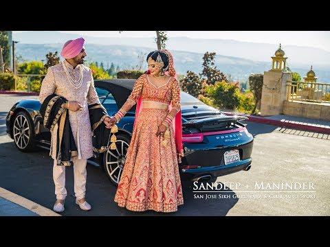 Sandeep + Maninder | San Jose Gurdwara Sikh Wedding Film