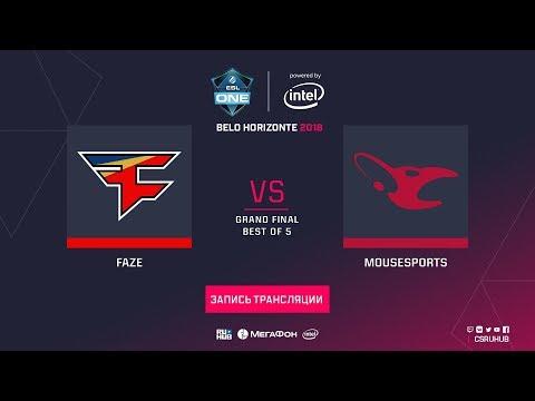 mouz vs FaZe - ESL One Belo Horizonte Final G.3