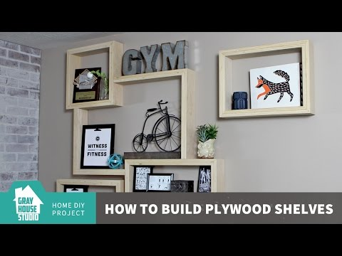 Building DIY Plywood Shelves with an Exposed Edge