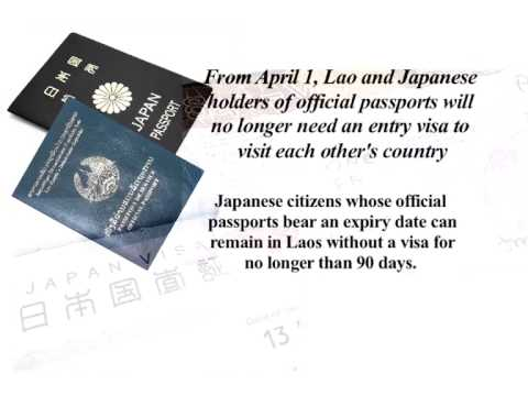 Lao NEWS on LNTV: Lao & Japanese official passports do not require VISAs.27/3/2015