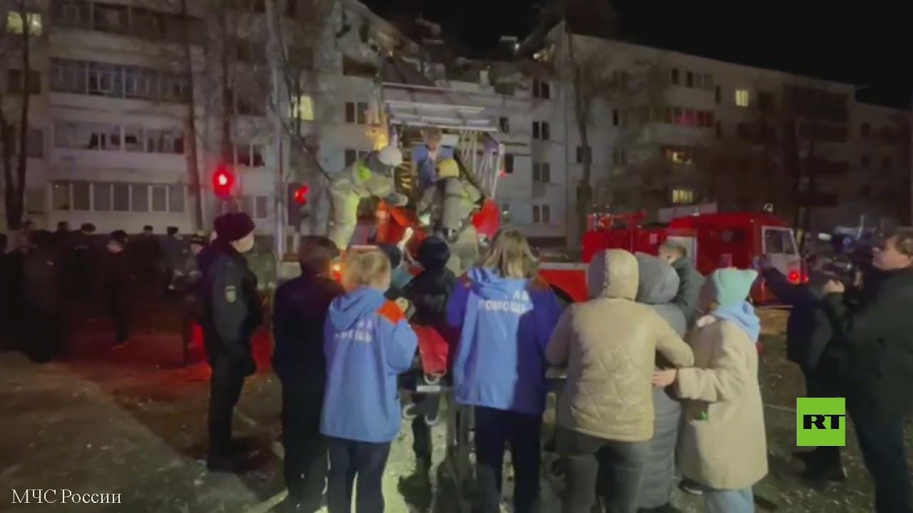 روسيا.. انفجار في مبنى سكني