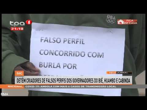 SIC detém criadores de falsos perfis dos governadores do Bié, Huambo e Cabinda