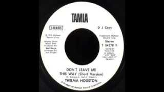thelma houston don t leave me this way extended mix