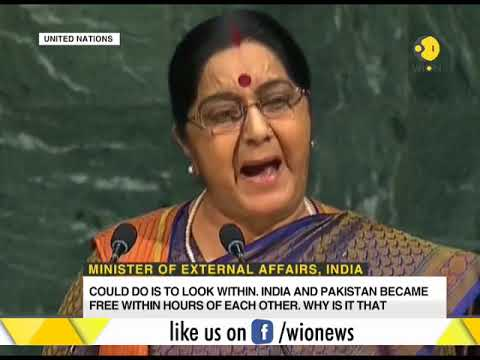 Indian external affairs minister's speech at the United Nations