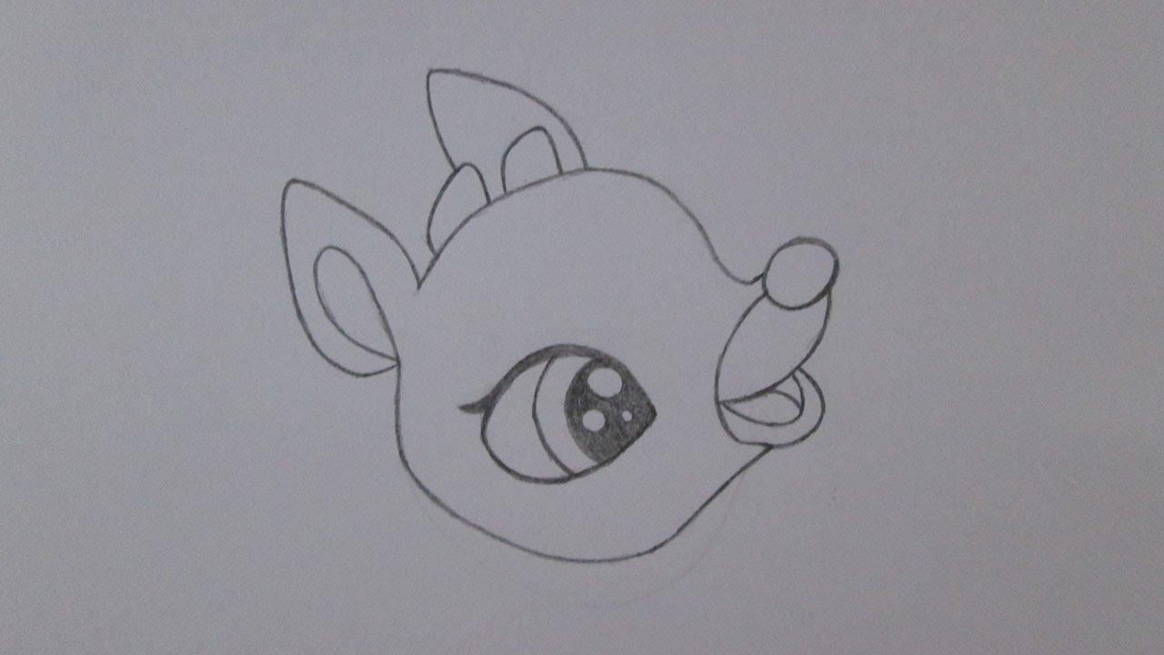 C mo dibujar a rodolfo el reno youtube - Renos para dibujar ...