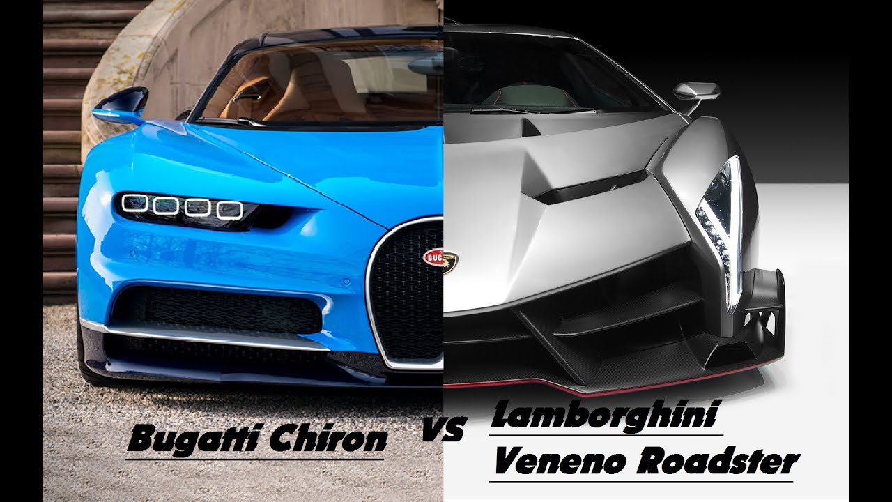 bugatti chiron vs lamborghini veneno new 2017 youtube. Black Bedroom Furniture Sets. Home Design Ideas