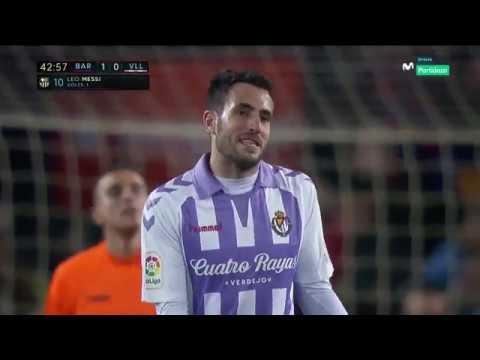 видео: Barselona vs Valladolid гол Месси 1- тайм