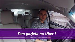 Tem gorjeta na Uber?