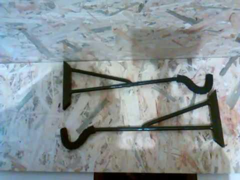 Крюки для крепления велосипеда. Велокрепление на стену.