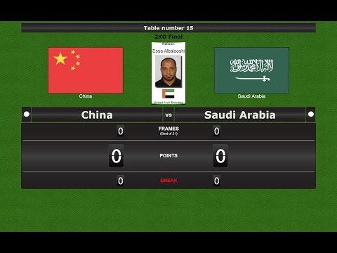 Pool 9 ball Team  Final : China vs Saudi Arabia