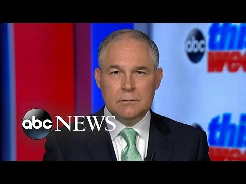 EPA Chief Scott Pruitt still won't say if President Trump believes climate change is a hoax